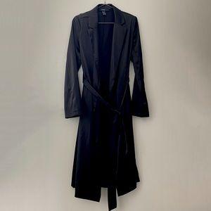 Forever 21 Satin Tie Trench Coat